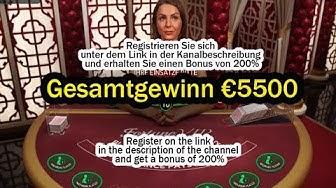 Blackjack Gesamtgewinn €5500 Online Casino! Grosser Gewinn!