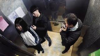 【大树君】社会实验:姑娘电梯遭遇骚扰求助他人,有人将她安全护送到家!