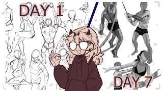 Learning to draw anaтomy in a week// Study with me