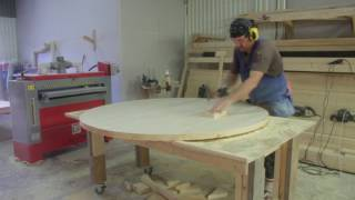 TIME LAPSE OF CUSTOM MADE ROUND DINING TABLE.