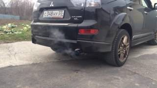 "Exhaust Greddy/Trust без ""флейты"" на Mitsubishi Outlander XL 3.0 V6"