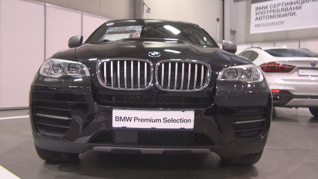 Bmw X6 M50d Black 2012 Exterior And Interior Youtube