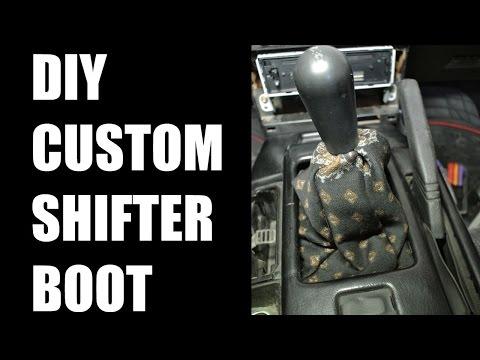 DIY custom shifter boot