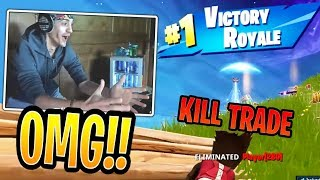 Ninja's First KILL TRADE!! Dies But Still Wins the Game - Fortnite Best and Funny Moments