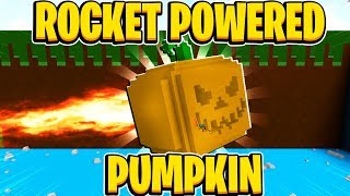 ROCKET POWERED GIANT PUMPKIN In Build A Boat For Treasure In Roblox