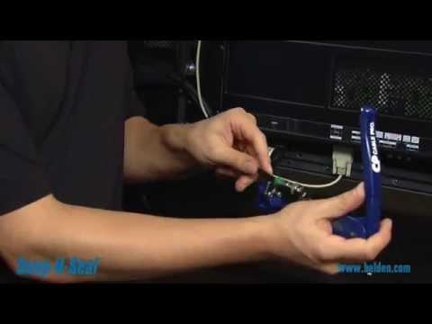 Belden Snap-N-Seal Compression Connectors   Video