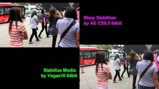 Reloaded: Warp Stabilizer by AE CS5.5 vs Stabilize Media by Vegas10