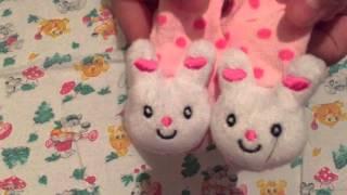 Обзор на носочки, царапки , слюнявчики(общие) и приданное для мальчика носочки , царапки и пинетки
