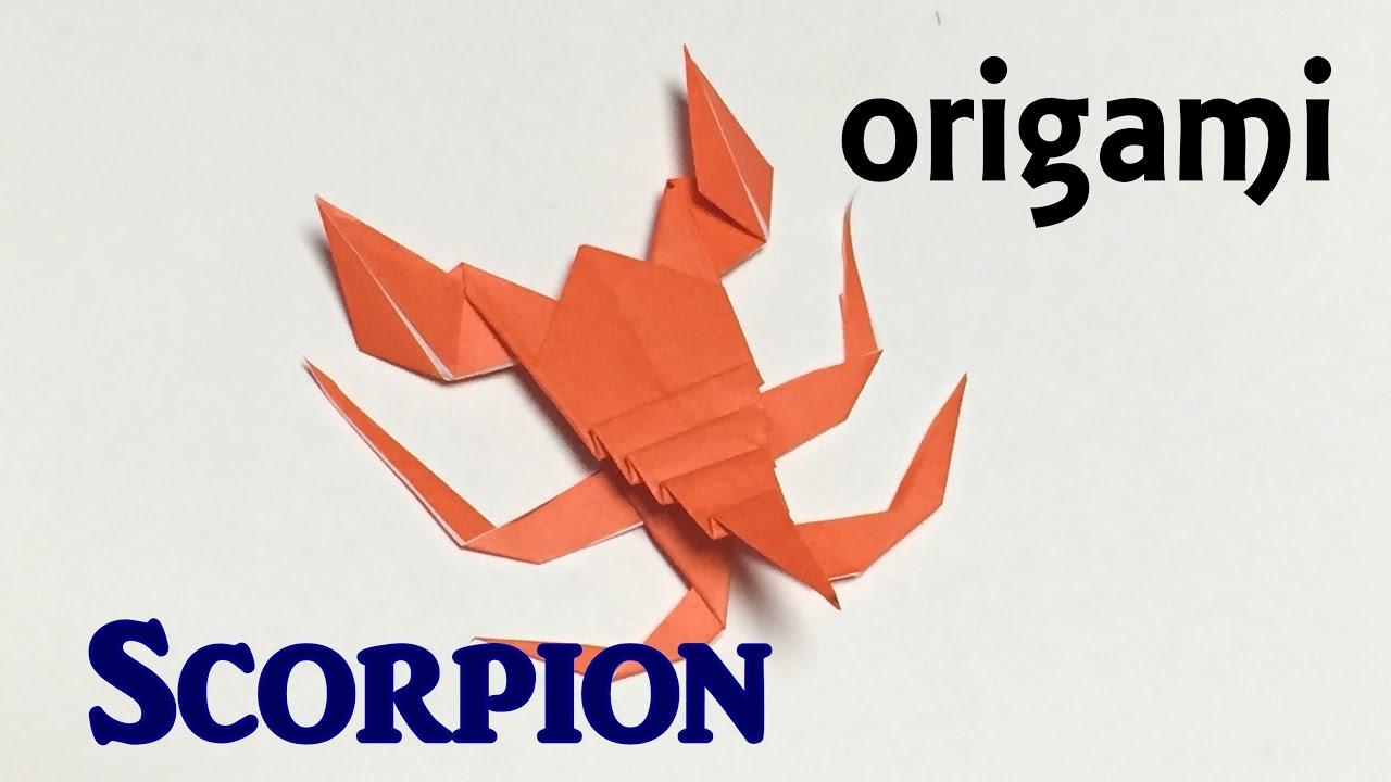 how to make paper scorpion origami scorpion tutorial