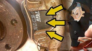 Как заменить передние тормозные колодки Ауди А6 С5