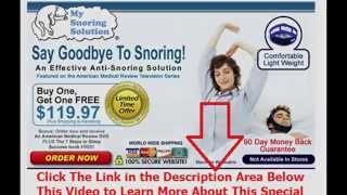 how to not snore tonight | Say Goodbye To Snoring
