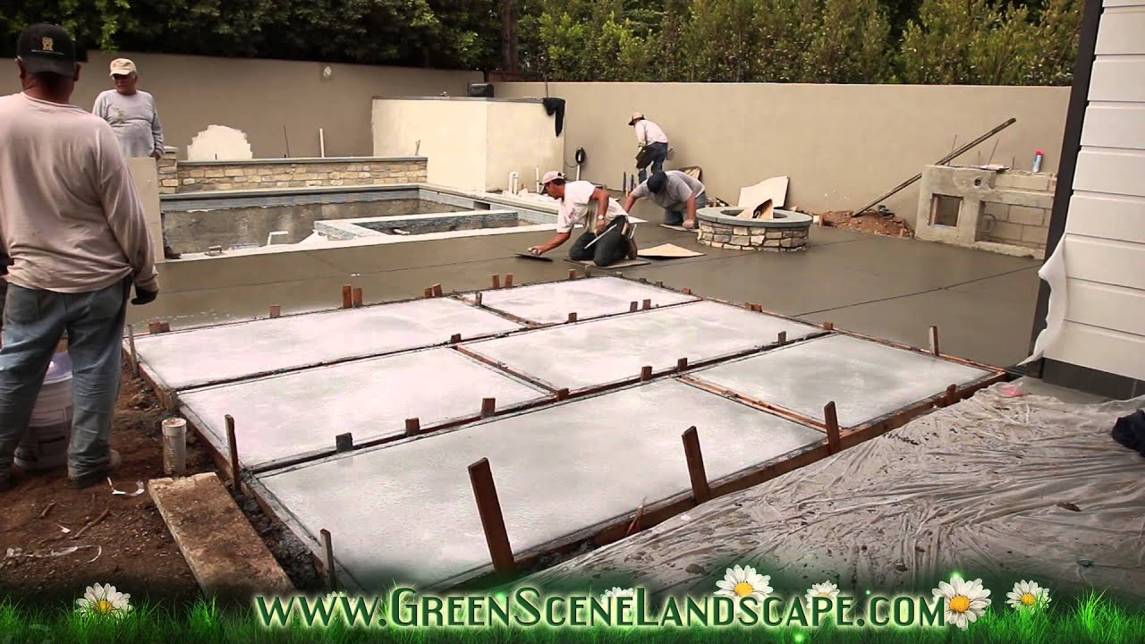 Top Cast Concrete Patio Pour   YouTube