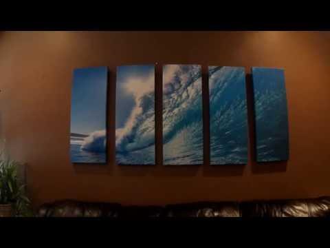 Vibrant Canvas 5 pc Wall Art Review - Ocean Wave Seascape
