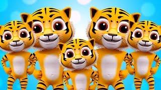 tigre doigt famille | comptines | chansons pour enfants | Rhyme For Kids | Tiger Finger Family