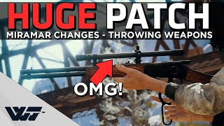 AMAZING NEW PATCH - Miramar update, Scoped Win94, Throwing weapons, AND MORE - PUBG