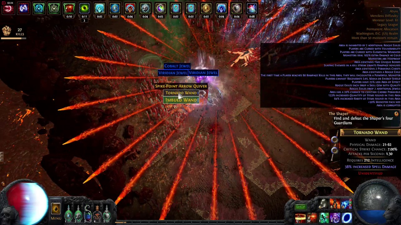 Twin 8 mod Abyss Map - Lightning Strike Juggernaut - Path of Exile 2 6