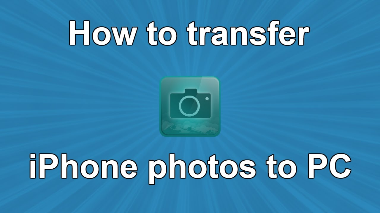 How to transfer iPhone photos to PC - YouTube
