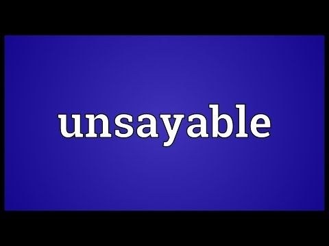 Header of unsayable