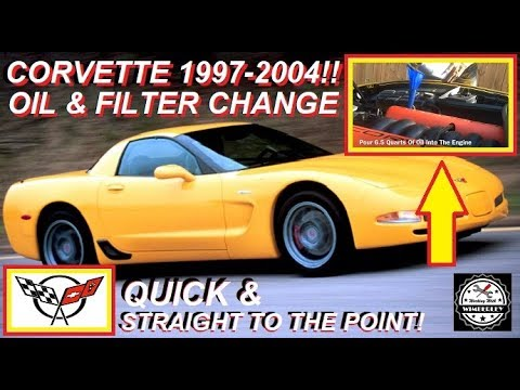 C5 Corvette Oil Change Filter 1997 2004 How To Tutorial Chevy Z06 Coupe Convertible Easy Steps Youtube