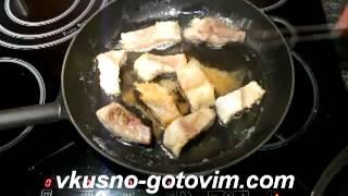 Жареная рыба Линь с помидорами