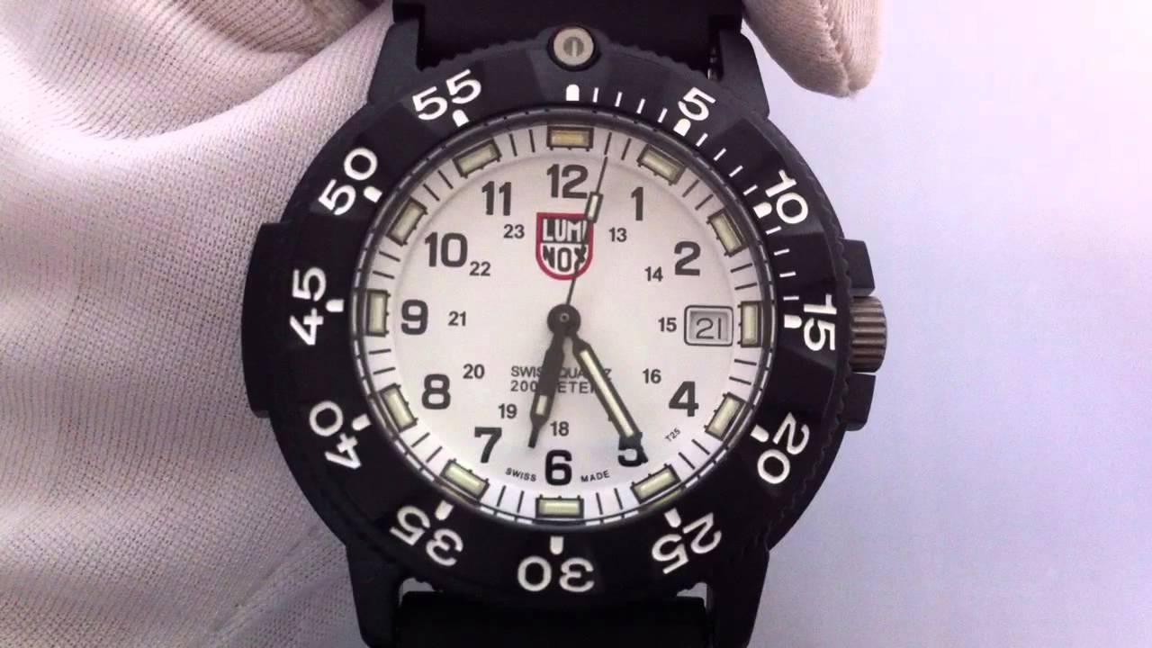 Men 39 s luminox original navy seal dive series watch 3007 youtube - Navy seal dive watch ...