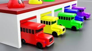 Learn Colors With Car and Garage Toys Nursery Rhymes for Kids Children