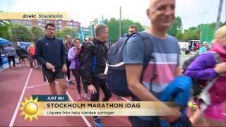 Ny bansträckning i årets Stockholm maraton - Nyhetsmorgon (TV4)