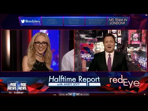 11-01-16 Kat Timpf on Red Eye - Halftime Report w/ Andy Levy