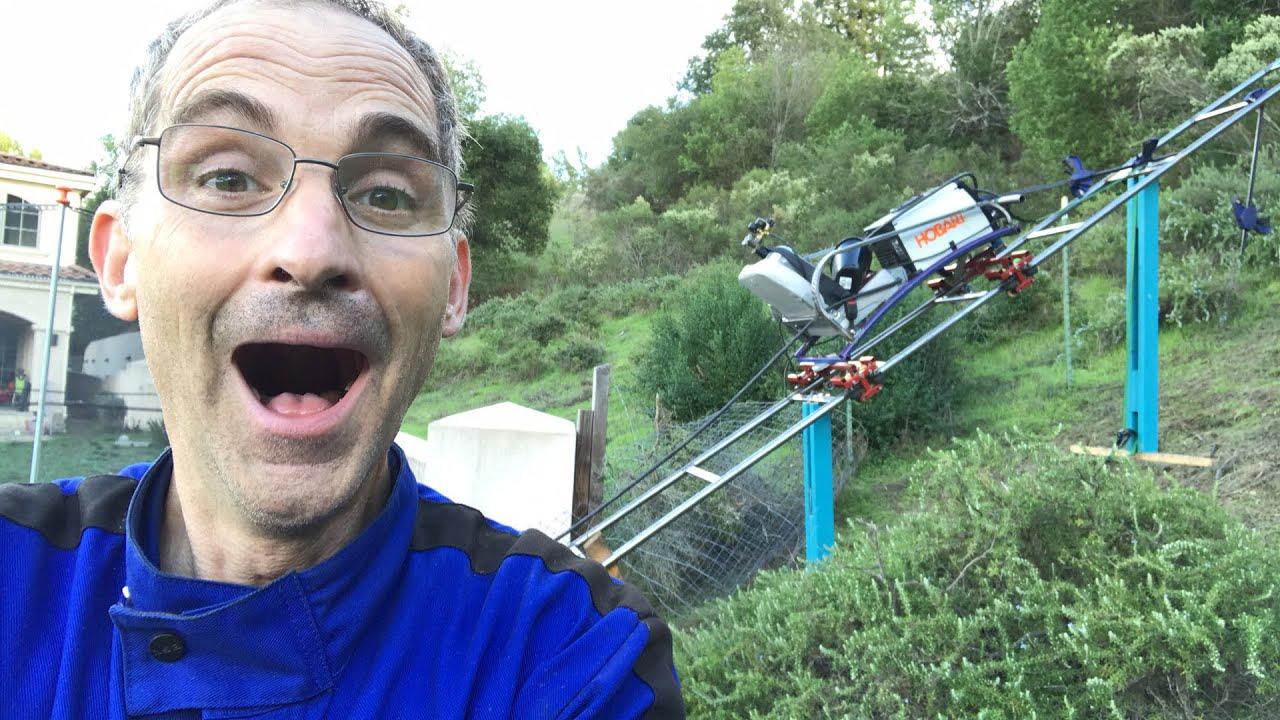 backyard roller coaster homemade maintenance cart youtube
