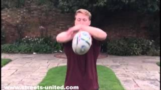 Ball Tricks with a Rugby Ball