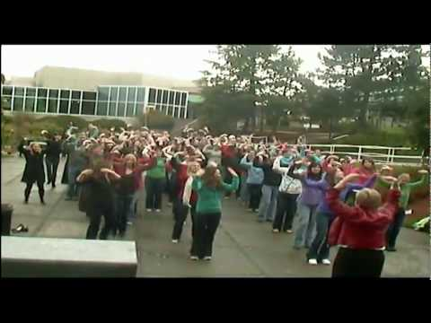Flash mob at Vancouver Island University