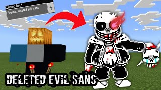 How to summon Deleted Evil Sans in Minecraft
