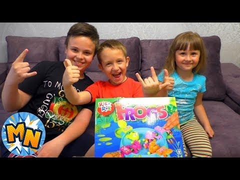 Дети САМИ сняли НОВЫЙ ЧЕЛЛЕНДЖ ИГРУ Голодные лягушки FROGS Обзор игрушки