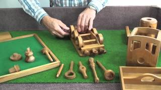 Handcrafted Wooden Toys With Tools - The Steam Engine