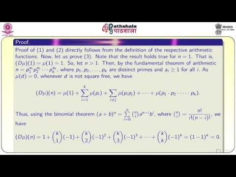 Introduction to arithmetic functions (MATH)