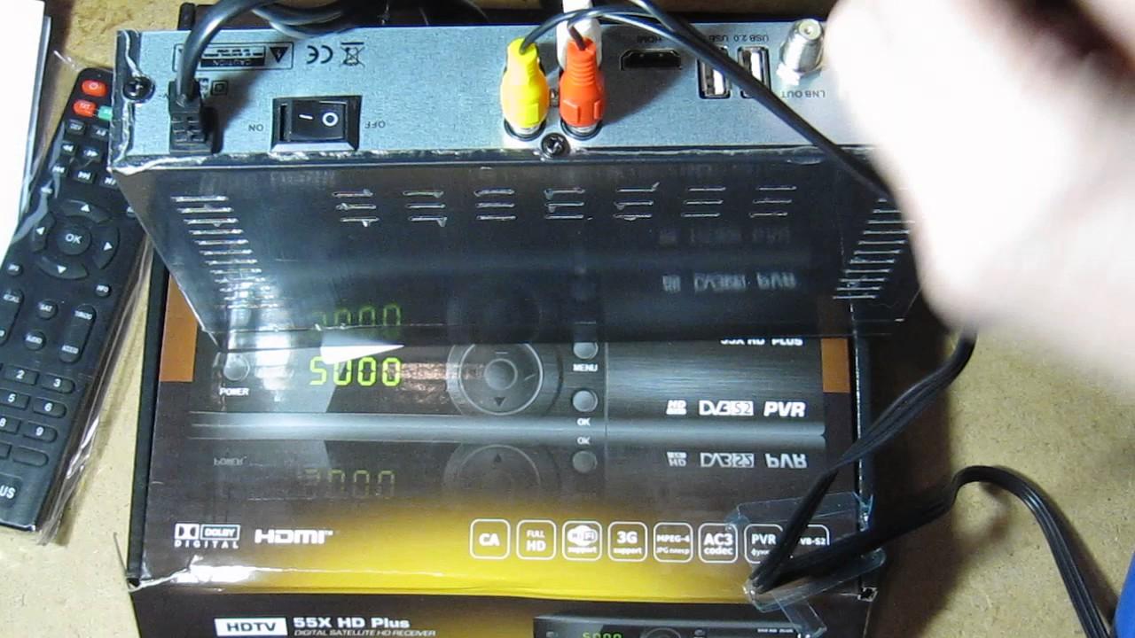 Прошивки 55x HD Plus - YouTube