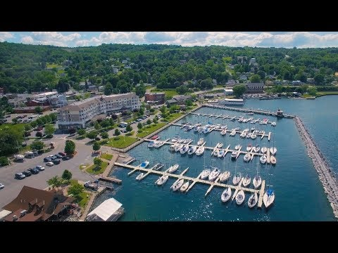 Aerial video of Finger Lakes Region - Corning, Watkins Glen, Montour Falls and Geneva
