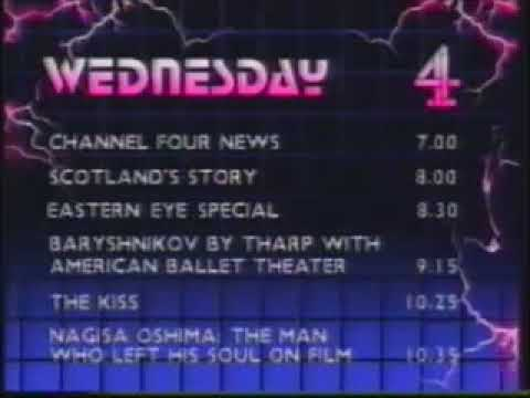 Channel 4 Menu and Music into Channel 4 News (31st October 1984)