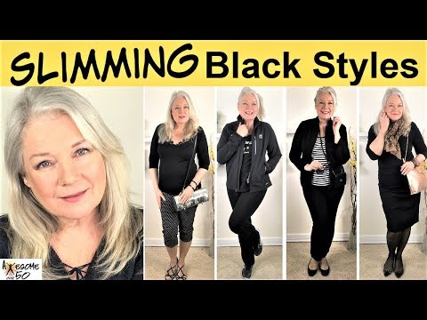 5-slimming-black-outfits-lookbook-&-style-fashion-tutorial,-looks-for-mature-women,-awesome-over-50