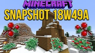 Minecraft 1.14 Snapshot 18w49a Sweet Berries & Berry Bushes! New Snowy Village!