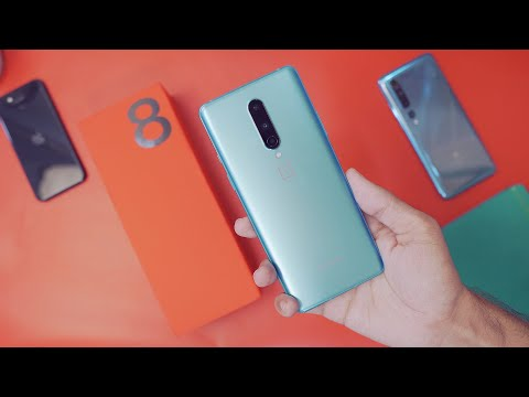 OnePlus 8 Glacial Green Unboxing/Hands On Review - India Retail Unit!