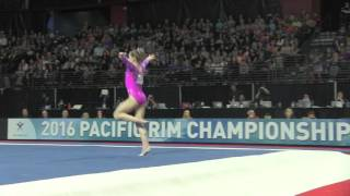Ragan Smith (USA) - Floor - 2016 Pacific Rim Championships Tea…