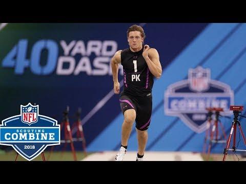 Kickers Run The 40-Yard Dash?!?!?!?!?!?! 😱| NFL Combine Highlights