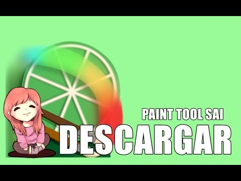 tutorial c mo descargar paint tool sai full gratis y. Black Bedroom Furniture Sets. Home Design Ideas