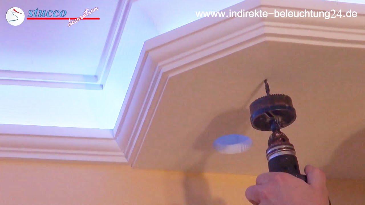 indirekte beleuchtung durch led streifen und farbige rgb led streifen youtube. Black Bedroom Furniture Sets. Home Design Ideas