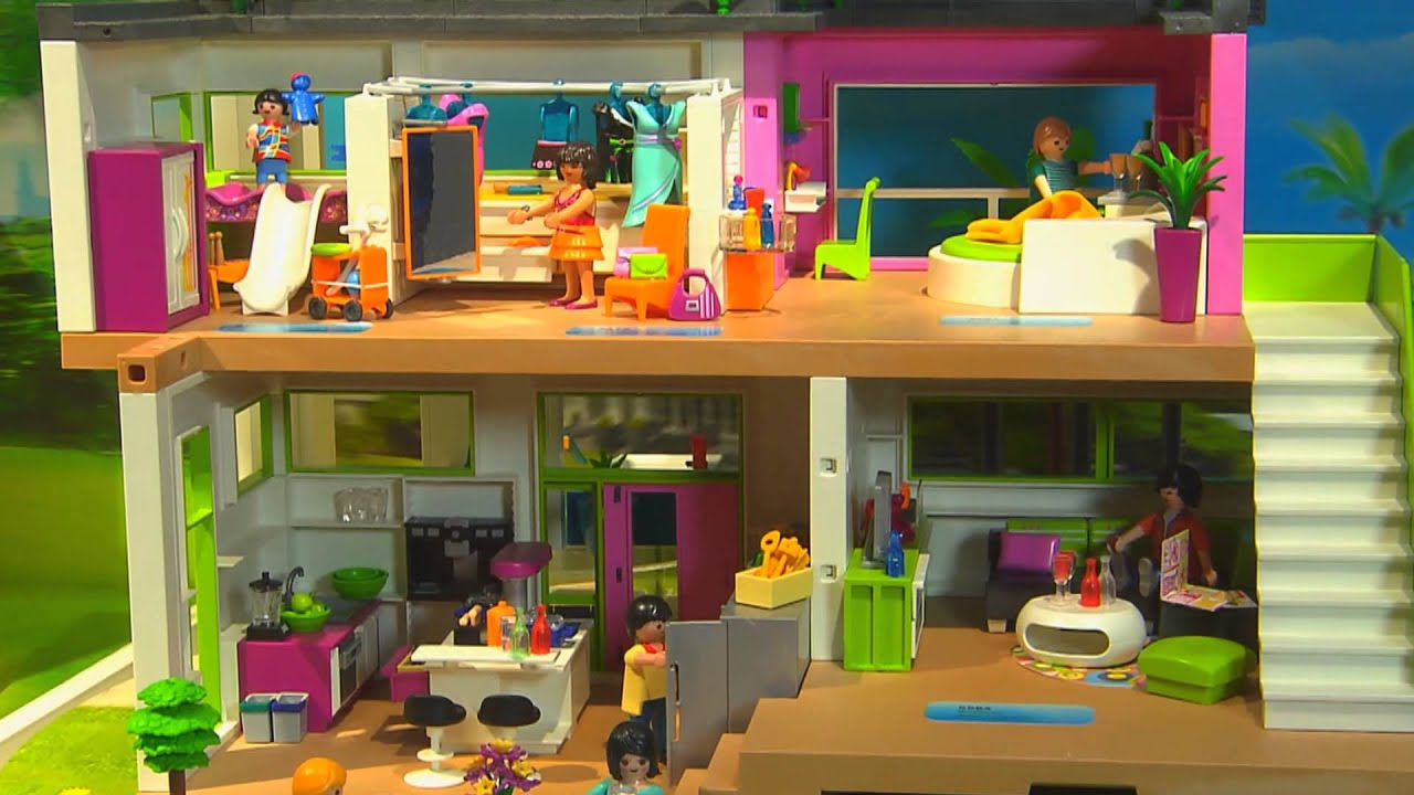 Playmobil hellas 2015 youtube for Casa moderna de lujo playmobil