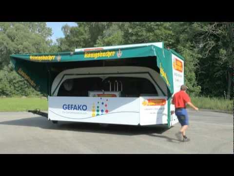 Müller Getränke Langweid - Aufbau des Ausschankwagens - YouTube