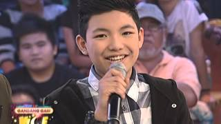 Darren sings Tell The World Of His Love on GGV