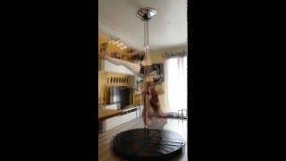 Pole dance, Gemini to Scorpio to Gemini again on angel twist
