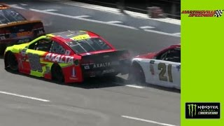 Junior spins after run-in with Blaney